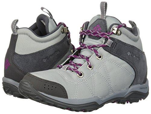 Columbia Women's Fire Venture Mid Textile Hiking Boot, Earl Grey, Dark Raspberry, 11 Regular US by Columbia (Image #4)
