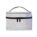 Colorful Diamond Glass Dranules Comestic Bags Vacation Makeup Bag & Organizer Toiletries Storage Pouch for Men and Women.