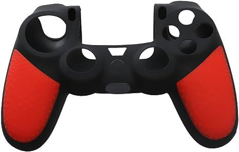 Cubierta Protector para PlayStation 4 Controlador PS4 Gamepad Silicona Color Rojo: Amazon.es: Videojuegos