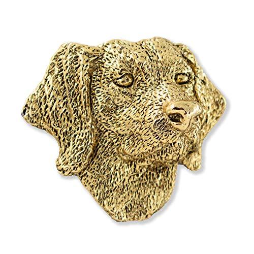 German Shorthair Dog Canine 22k Gold Plated Rare Earth Refrigerator Magnet Gift, DG086PRM