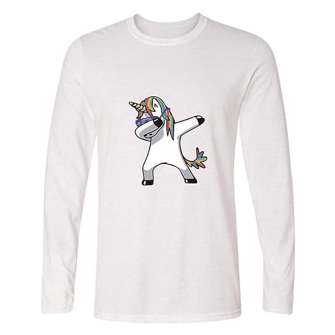 Betrothales Hombres Dabbing Estampado Animales Camisetas Camisa Unicornio Shirt: Amazon.es: Ropa y accesorios