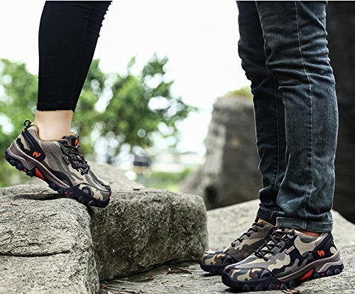 Minetom Unisex Spring Summer Climbing Shoes Men Women Breathable Sport Walking Shoes Hunting Athletic Shoes Couple Outdoor Sneakers B Brown Orange pD5xkj