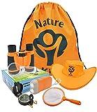 Adventure Kids - Outdoor Explorer Kit - Children Binoculars, Flashlight, Compass, Magnifying Glass,...
