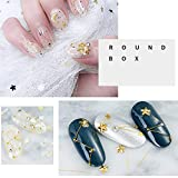 SILPECWEE 6 Boxes 3D Flat Back Nail Art