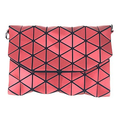 Bolso cosmético de la nueva manera, bolso geométrico del teléfono del bolso del maquillaje de los modelos del modelo Rojo