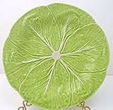 Bordallo Pinheiro Chartreuse Green Cabbage Leaf 10 1/4