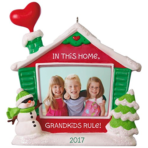 Hallmark Keepsake 2017 Grandkids Rule! Picture Frame Dated Christmas (Hallmark Photo)
