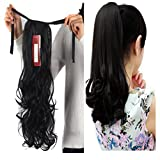 Haironline Hair Extensions Ponytail Extensions Tie Up Ponytail Clip in Hair Extensions Hairpiece Binding Pony Tail Extension for Girl Lady Woman
