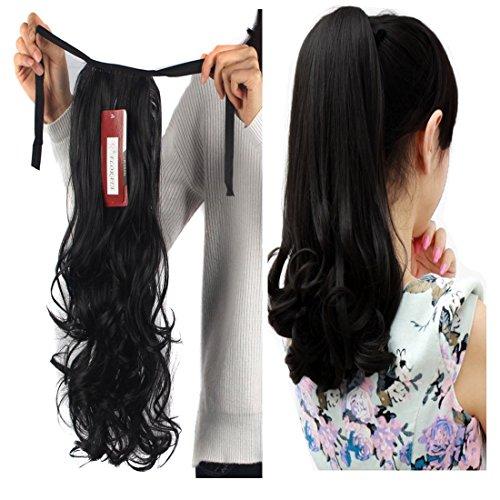 hair extensions ponytail tie