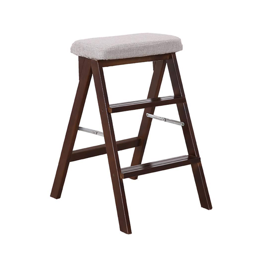 子供/大人の世帯の台所階段のための梯子の腰掛けを折る3つのステップステップスツール多機能の花の立場の即時の高さ67cm、100のkg容量 B07PBDDW6N Natural color