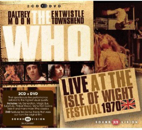 CD : The Who - Live at the Isle of Wight Festival 1970 (Bonus DVD, United Kingdom - Import, Pal Region 0, 3 Disc)