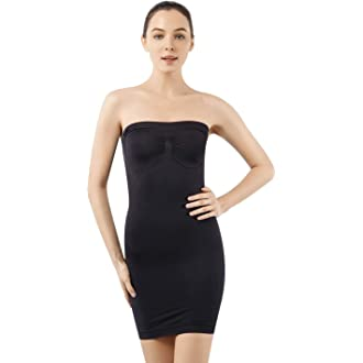 07853864d01d #3 MD Women's Strapless Shaperwear Full Body Slip Seamless Targeted Firm Tummy  Control Slip Under Dresses