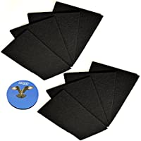 HQRP 8-pack Carbon Filter C for Holmes HAP412, HAP422, HAP9241, HAP9242, HAP9243 Air Purifiers + HQRP Coaster