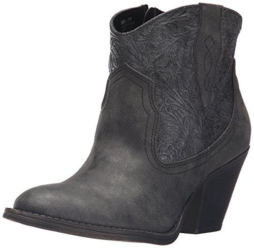 Jellypop Women's Hurley Western Boot - Charcoal Metallic ...