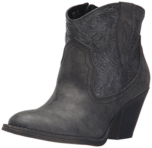 Jellypop Donna Hurley Western Boot Carbone Metallico