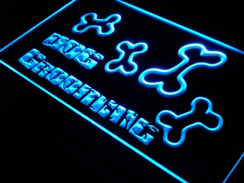 Dog Grooming Shop Pet Bone LED Sign Neon Light Sign Display s075-b(c) (Neon Pet Grooming Sign)