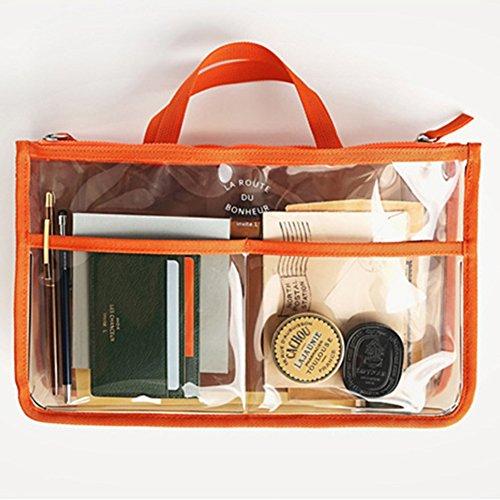 Impermeabile Te Trasparente Arancione Coméstico Viaggio Organizzatore Sacchetto fnwxgqwp