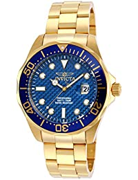 "Men's 14357 ""Pro Diver"" 18k Gold Ion-Plated Watch"