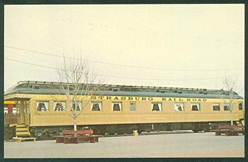 - Strasburg Railroad PARADISE CAR Philadelphia Reading Passenger Train Postcard