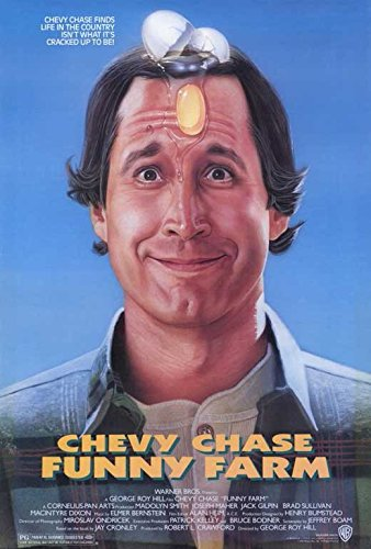 Funny Farm Poster Movie 27x40 Chevy Chase Madolyn Smith Joseph Maher
