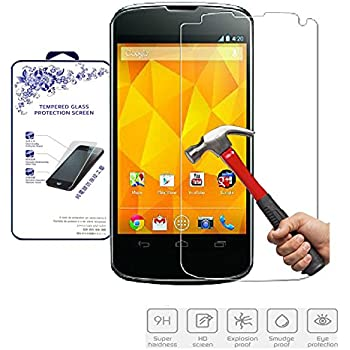 hot sale Cadorabo Tempered Glass works with LG Google NEXUS 4 – HIGH TRANSPARENCY – Shockproof Scratch Resistant Gel Case Protective Shell Bumper Skin Back Cover