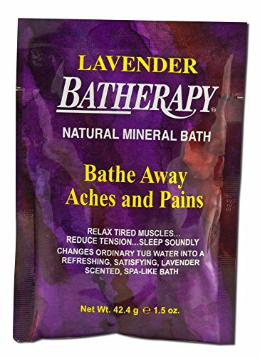 Queen Helene Batherapy Mineral Bath Salts, Lavender, 12 Count, 1.4 Ounce (Mineral Salts Batherapy Bath)