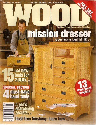 Better Homes and Gardens WOOD Magazine Issue 160 Dec./Jan. 2004/2005 (Mission Dresser you can build (Mission Single Dresser)