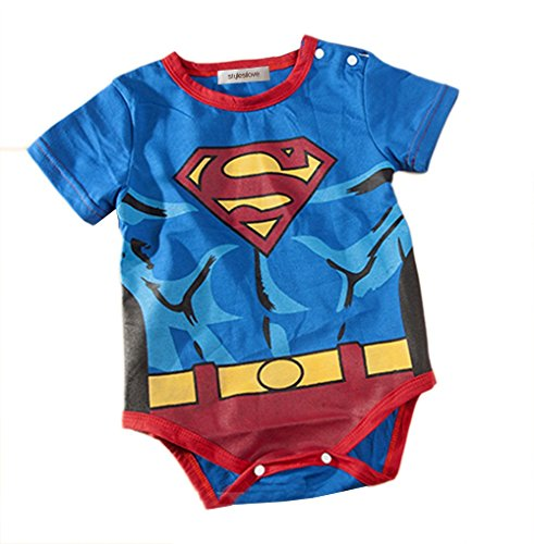 [Stylesilove Super Heros Baby Boy Costume Jumsuit (12-18 Months, Blue Superman)] (Superhero Costumes Pictures)
