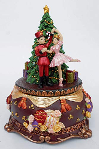 Musicbox Kingdom Nutcracker and Ballerina on a Christmas Tree with The Melody Nutcracker Suite Decorative Item