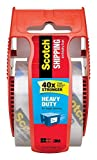 Scotch Heavy Duty Shipping Packaging Clear Tape, Red Dispenser 3Z5VSJ, 1.88 in x 22.2 yd, 4-PACK