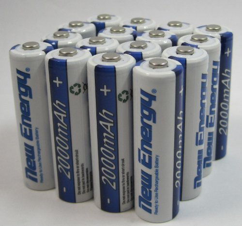 16 Batteries Rechargeable AA NiMH 2000mAh 1.2V 1500 Cycles Battery New Energy (Cycle Energy Aa compare prices)