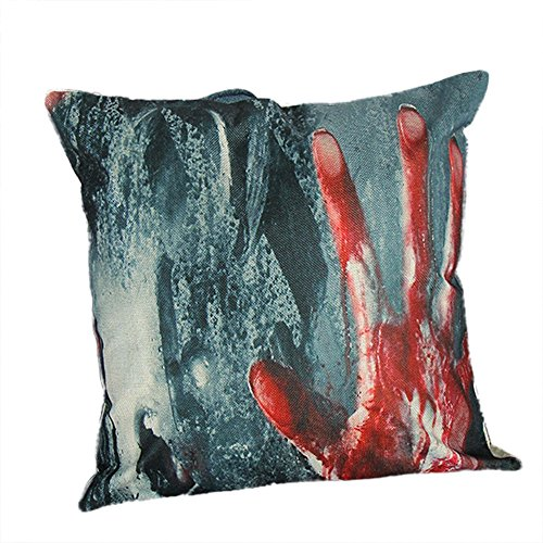 HomeMals Nightmare Before Christmas Cotton Linen Square Throw Pillow Case Decorative Cushion Cover Pillowcover for Sofa]()