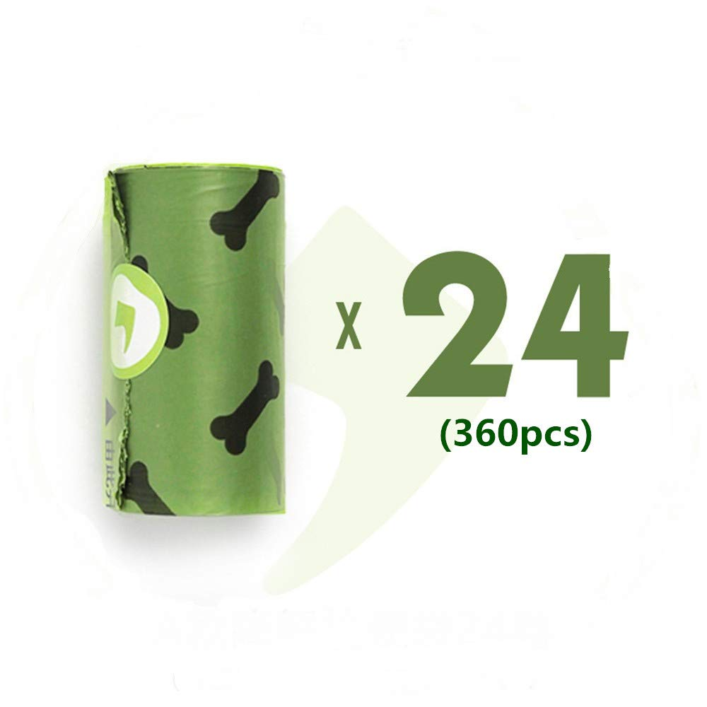 A-360pcs Degradable Pet Poop Bag Biodegradable Environmentally Friendly Portable Garbage Bag, Compostable Dog Poop Bags Waste Bags, Extra Thick and Strong Poop Bags for Dogs, Guaranteed Leak-Proof (A-360pcs)