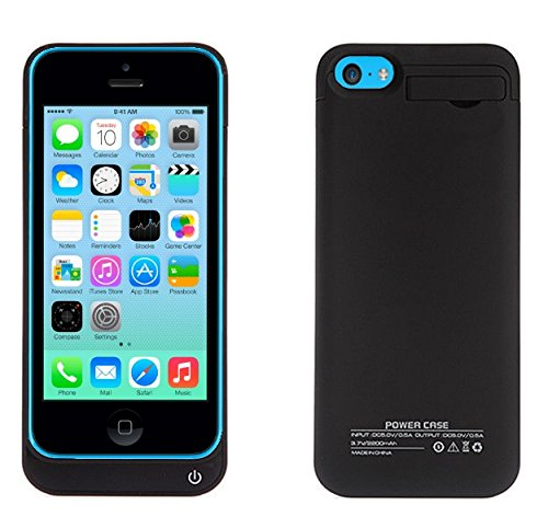 iPhone 5 Charger Battery case Extended power Bank External Charger Pack for Iphone 5 5s 5c rapidly Charging Port place lean fit in Slider Protector Drop Proof pattern comprehensive Body Protection On off Switch LED Battery stage Indicator appropriate All iPhone 5s Battery Charger Cases