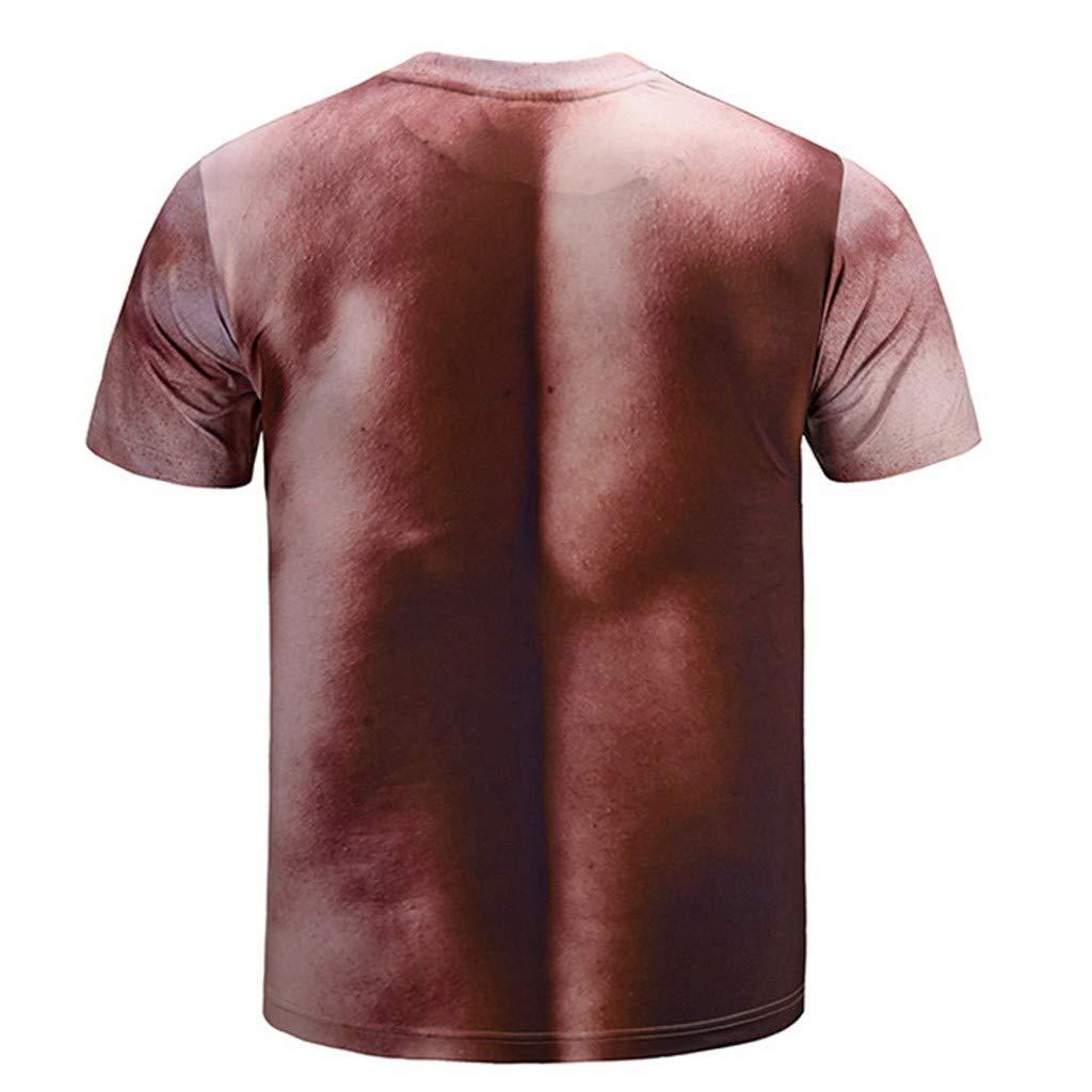 Xmiral T-Shirt Uomo 3D Stampa Manica Corta #19040944#