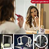 LINFON LED Vanity Mirror Lights Kit for Makeup Dressing Room Table Kitchen Vanity Set 13ft Flexible 240 LEDs Light Strip 6000K Daylight White DIY Project with Dimmer and Power Supply