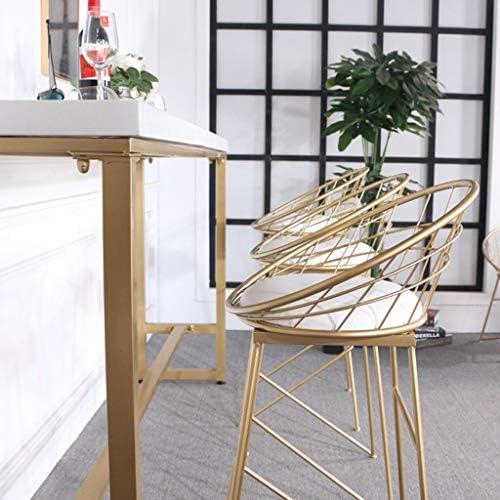 OUG-Tabouret de bar créatif Haut Simple, Linge Respirant et Confortable, procédé de Peinture à Haute température, supporte 330 Livres, Convient aux Restaurants, Bars, comptoirs