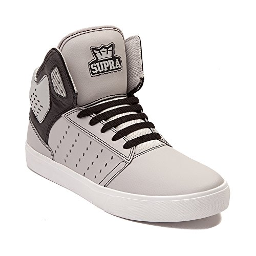 Supra Mens Atom Hightop Colorblocked Moda Sneakers Grigio / Nero / Bianco