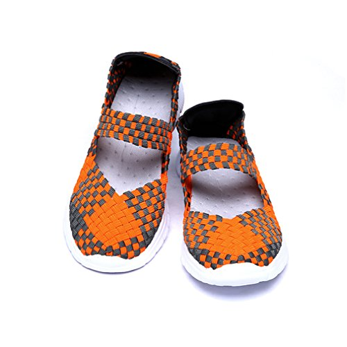 Dearwen Chaussures De Marche Respirantes Slip-on Orange