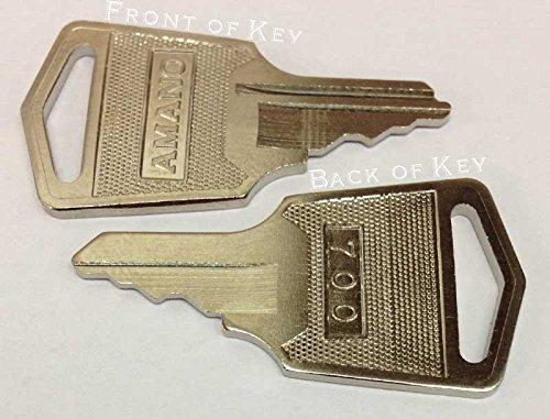 AMANO Time Clock Key C-459151 (set of 2) Fits all MJR-700...