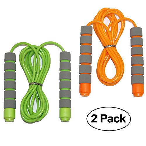 Adjustable Soft Skipping Rope with Skin-friendly Foam Handles for Kids