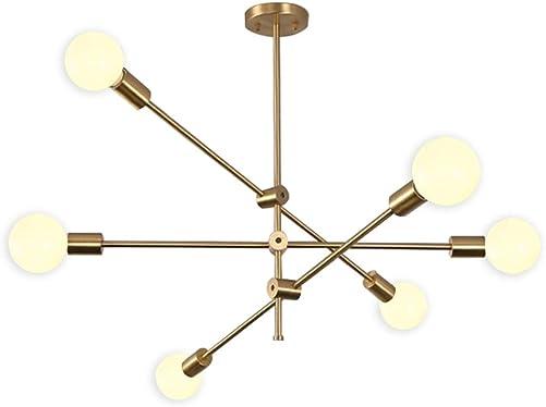 Hsyile Lighting KU300236 Modern-Industrial Style Indoor Chandelier Light Fixtures,Brass Finishes Flush Mount Ceiling Light Modern Pendant Light,Perfect