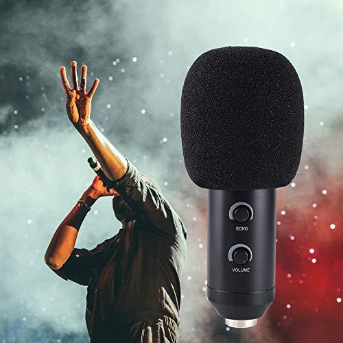 Pudincoco 5pcs Reemplazo de los auriculares Espuma de micr/ófono Cubierta de micr/ófono Cubierta del parabrisas Auricular Protector de viento Pop Filtro Espuma de la cubierta de micr/ófono Color: Negro