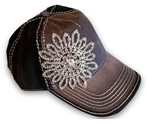 Rhinestone Black Baseball Hat - 5