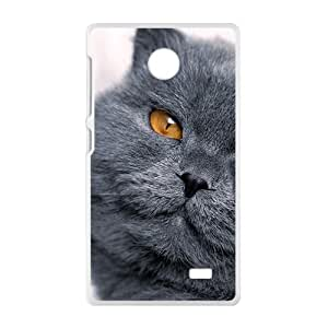 Gray Cat Blik Eye Phone Case for Nokia Lumia X