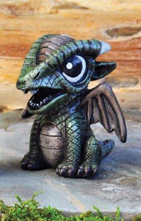 The Fiddlehead Fairy Garden Miniature Green Dragon Fairy Garden Accessory #17282