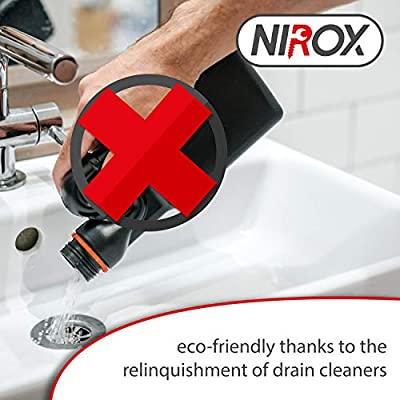 Drain Plunger with ribbed profile for strong suction power Plumbers Plunger ideal for Pipe cleaning siphon /& drain black nirox Sink plunger set of 2 Plumbing Tool easy-care
