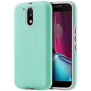 Dream Wireless Funda para Motorola Moto G4/Moto G4 Plus, Doble Protector de Uso Rudo con Botones, color Menta