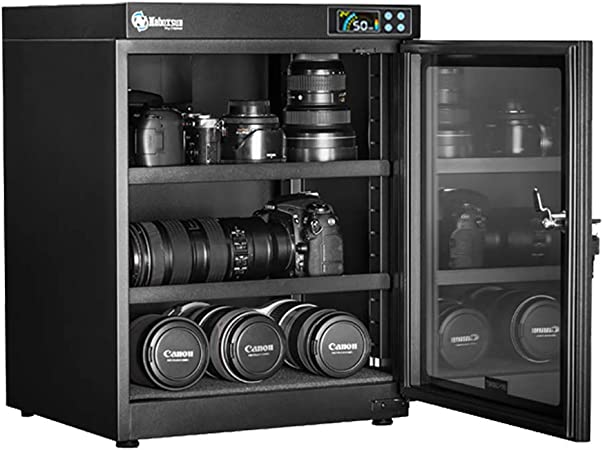 Caja antihumedad Pebegain electrónica de control totalmente automático sin ruido y protección del medio ambiente ahorro de energía – Cámara lente de secado automático caja de almacenamiento gabinete: Amazon.es: Hogar