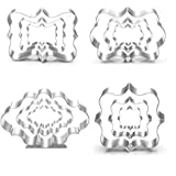 BakingWorld Plaque Frame Cookie Cutter Set - 12 Piece - Square,Oval,Rectangle,Photo Plaques Frame Fondant Cutters -Stainless Steel(Assorted Sizes)